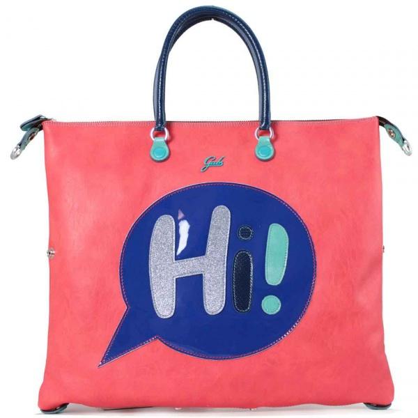 Gabs borsa a mano g3 vignetta hi trasformabile pelle corallo - dettaglio 1