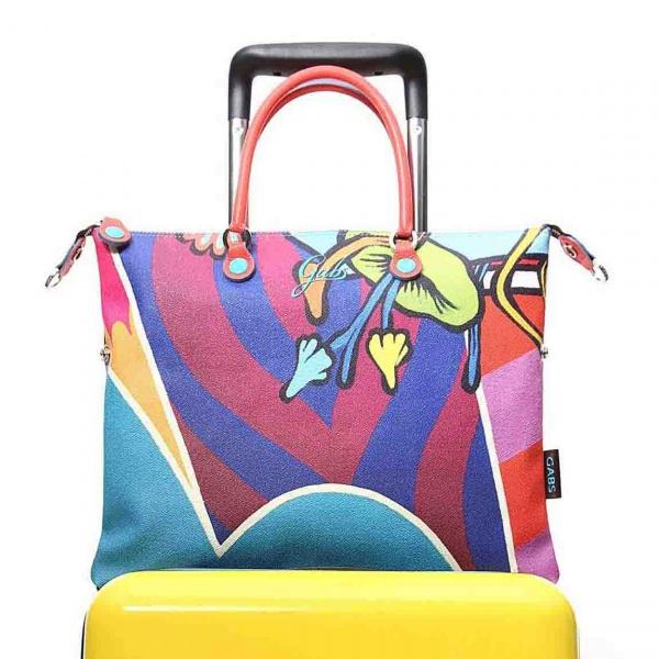 Gabs borsa a mano g trip travel in pvc e pelle stampa street art - dettaglio 1