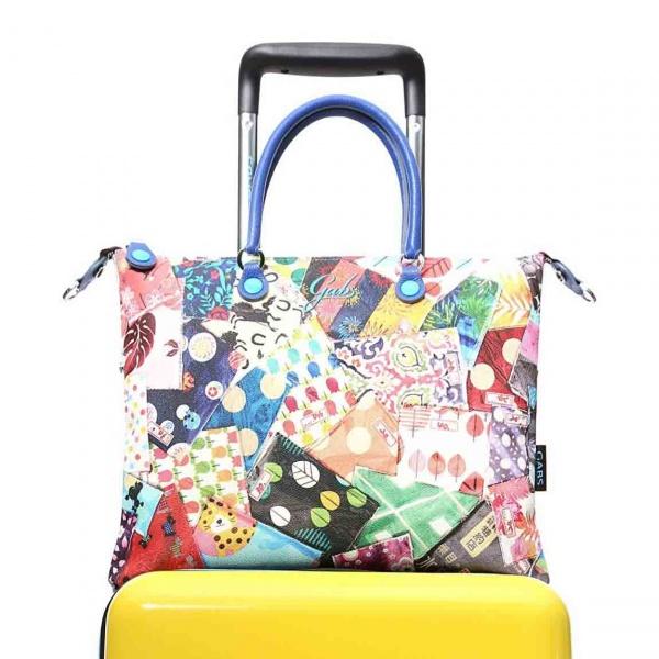 Gabs borsa a mano g trip travel in pvc e pelle stampa fantasie - dettaglio 1