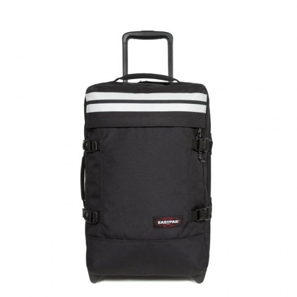 Eastpak valigia tranverz s reflective black in poliestere - dettaglio 1