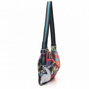 Gabs borsa a spalla/zaino g-urban vela e pelle stampa fiat 500yoyogi - dettaglio 2