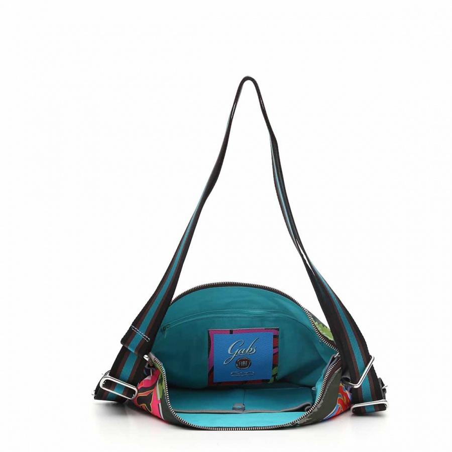 Gabs borsa a spalla/zaino g-urban vela e pelle stampa fiat 500yoyogi - dettaglio 3