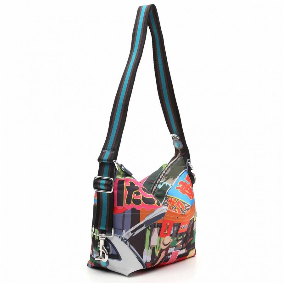 Gabs borsa a spalla/zaino g-urban vela e pelle stampa fiat 500yoyogi - dettaglio 6