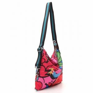 Gabs borsa a spalla/zaino g-urban vela e pelle stampa fiat 500brooklyn - dettaglio 3