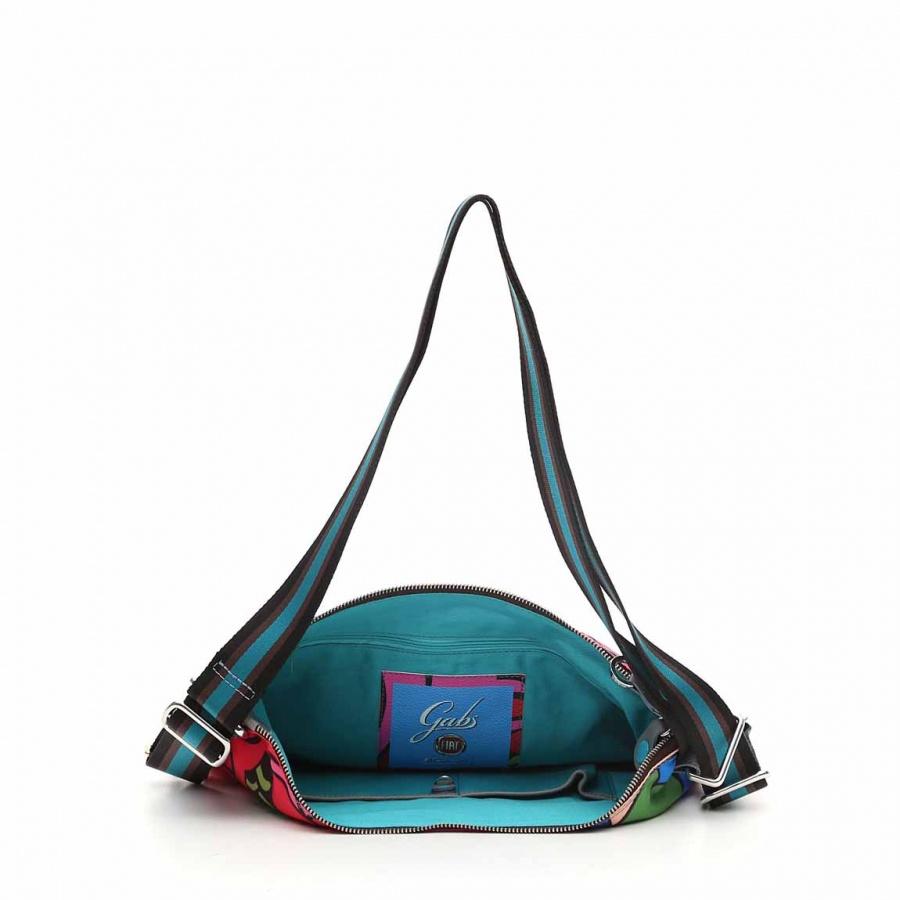 Gabs borsa a spalla/zaino g-urban vela e pelle stampa fiat 500brooklyn - dettaglio 5