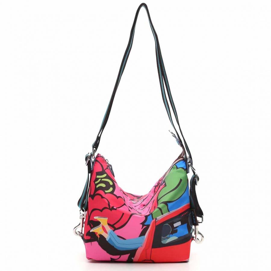 Gabs borsa a spalla/zaino g-urban vela e pelle stampa fiat 500brooklyn - dettaglio 8