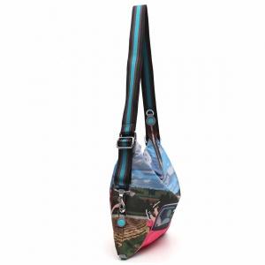 Gabs borsa a spalla/zaino g-urban vela e pelle stampa fiat 500siena - dettaglio 3