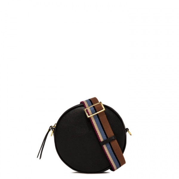 Borsa a tracolla tamburello large gianni chiarini nero - dettaglio 1