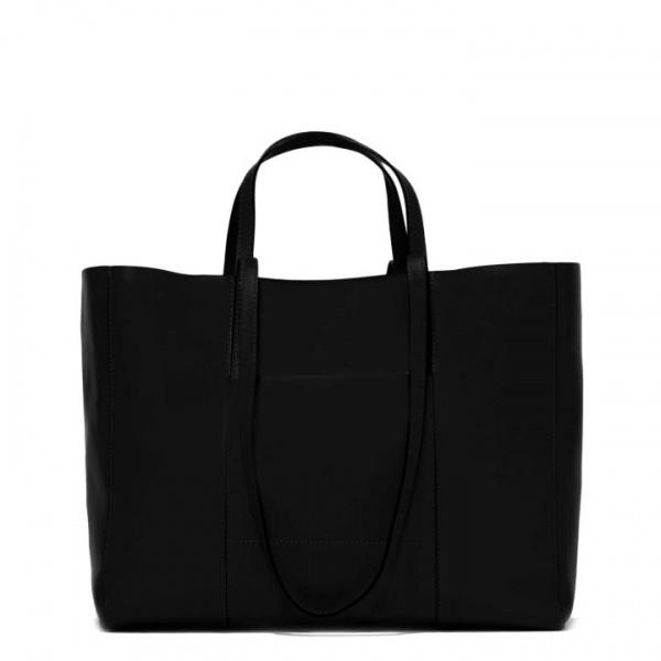Shopping bag superlight zip large gianni chiarini nero - dettaglio 1