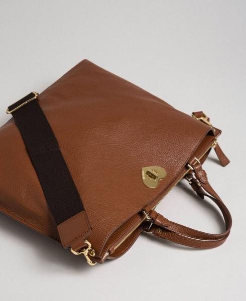 Twinset borsa a mano grande con cuore 192to8091 cuoio pelle - dettaglio 1