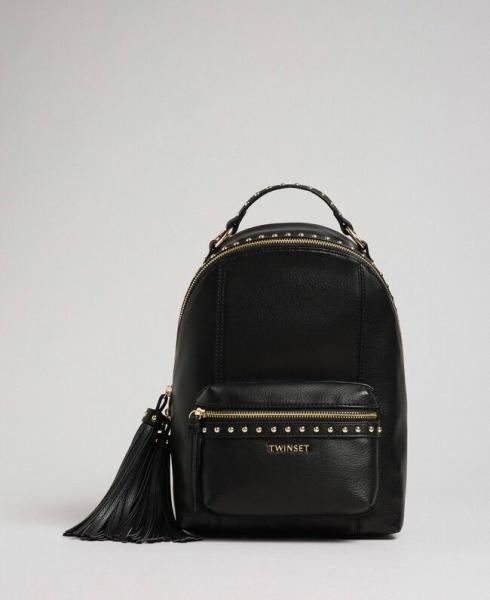 Twinset zaino con borchie 192to8165 nero similpelle - dettaglio 1