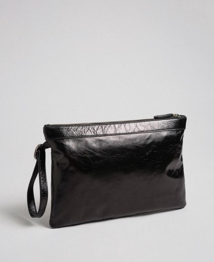 Twinset pochette con fibbia décor 192to823h nero pelle - dettaglio 4