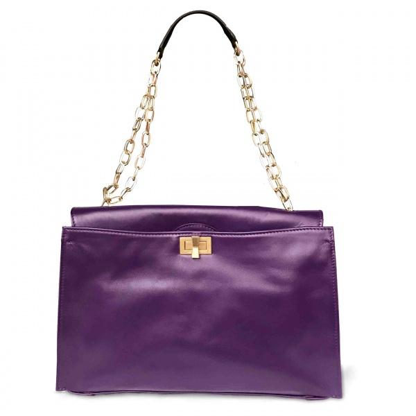 Gianni Chiarini Borsa a mano Emma large Purple - dettaglio 1