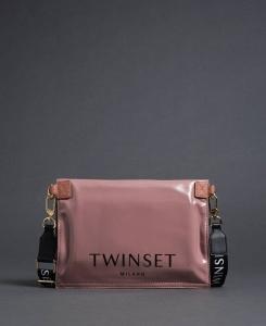 Twinset borsa a mano shopper piccola ripiegabile 192to7174 dusty pink similpelle - dettaglio 1