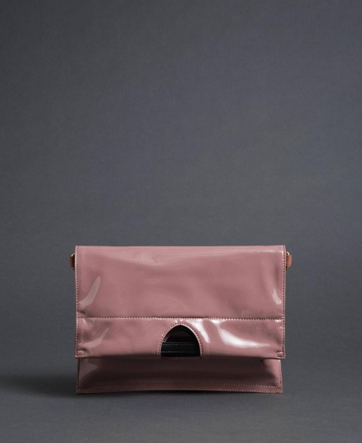 Twinset borsa a mano shopper piccola ripiegabile 192to7174 dusty pink similpelle - dettaglio 3