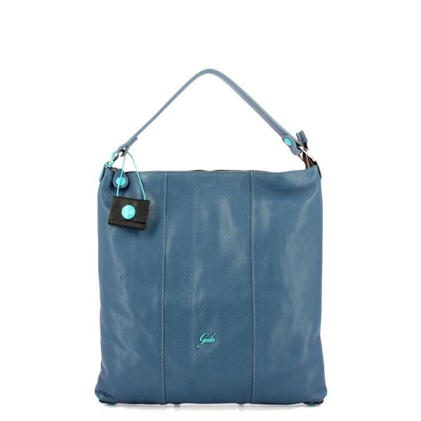 Gabs borsa a spalla sofia ruga pelle martellata marino - dettaglio 1