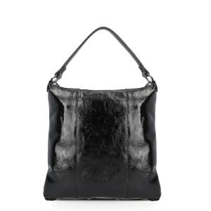 Gabs borsa a spalla sofia black naplak pelle lucida nero - dettaglio 1