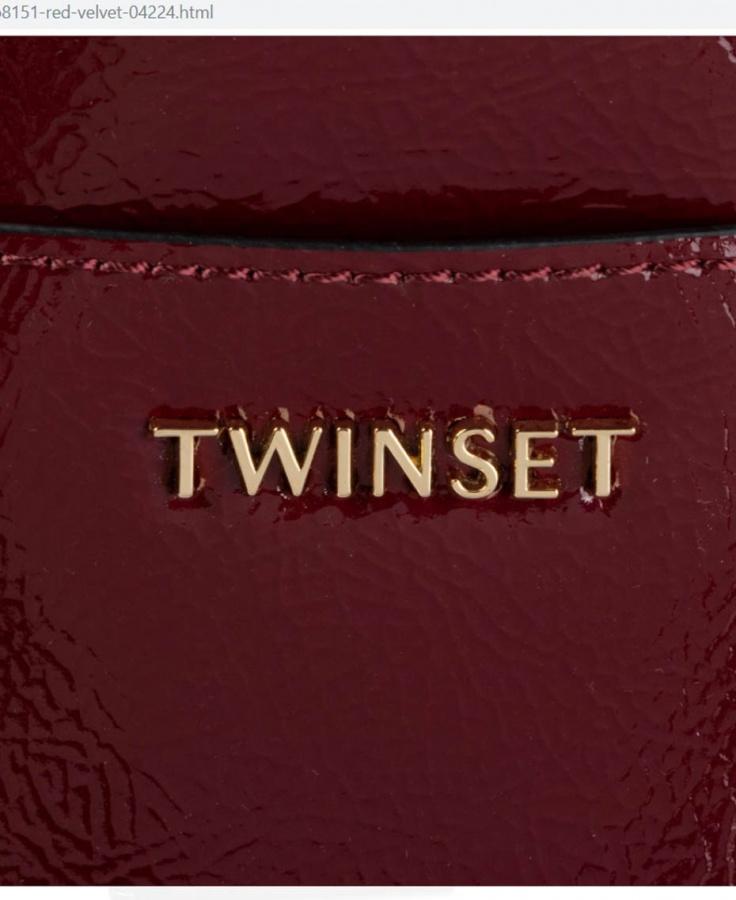 Twinset shopping bag 192to8151 red velvet - dettaglio 2