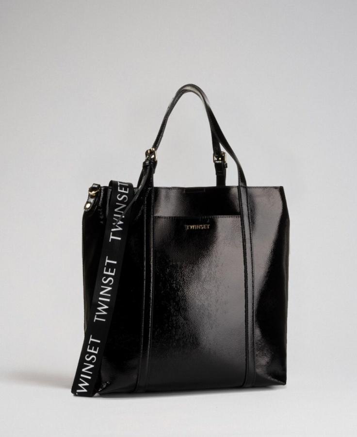 Twinset shopping bag 192to8151 nero - dettaglio 1