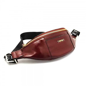 Twinset Marsupio effetto vernice con logo in similpelle red vevet - 192TO8153