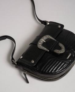 Twinset borsa a tracolla rebel con fibbia décor 192to823c nero pelle - dettaglio 1