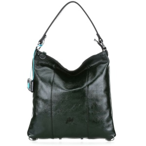 Gabs borsa a spalla sofia black naplak pelle lucida pino - dettaglio 1