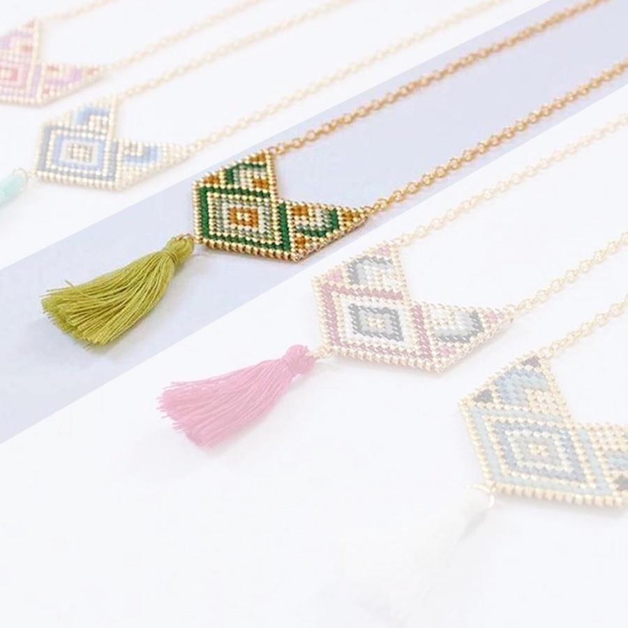 Lenor Collana multicolore Handmade - Cuore